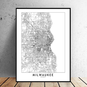 Milwaukee City Map - Bad Bixch Decor