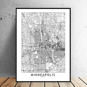 Minneapolis City Map - Bad Bixch Decor