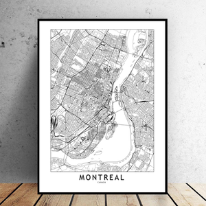 Montreal City Map - Bad Bixch Decor