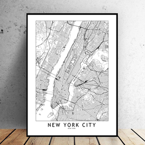 New York City Map - Bad Bixch Decor