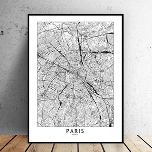 Paris City Map - Bad Bixch Decor
