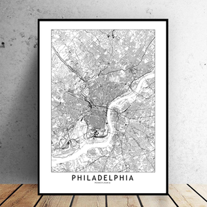 Philadelphia City Map - Bad Bixch Decor