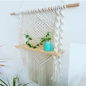 Handmade Macrame Shelf - Bad Bixch Decor