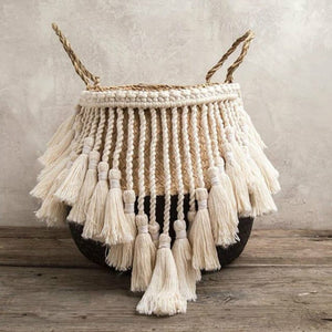 MOKA Handmade Macrame Basket - Bad Bixch Decor