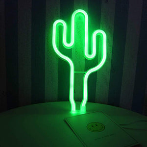 Cactus Neon Light - Bad Bixch Decor