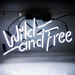 Wild and Free Neon Sign - Bad Bixch Decor