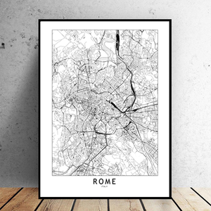 Rome City Map - Bad Bixch Decor