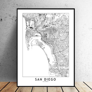 San Diego City Map - Bad Bixch Decor