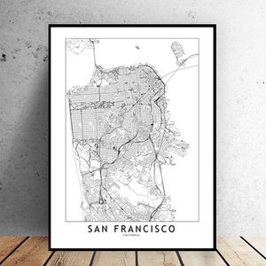 San Francisco City Map - Bad Bixch Decor