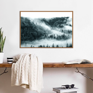 Teal Foggy Forest - Bad Bixch Decor