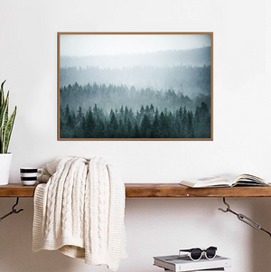 Teal Misty Forest - Bad Bixch Decor