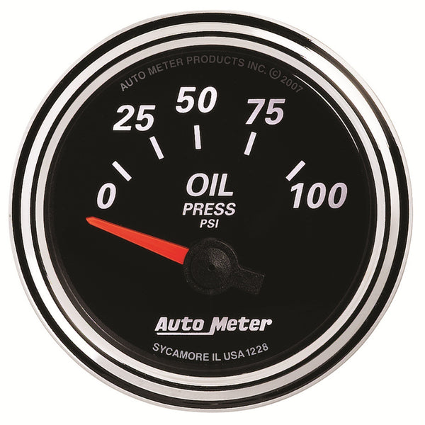 2-1/16 in. OIL PRESSURE 0-100 PSI DESIGNER BLACK II