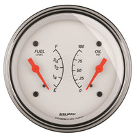 3-3/8 in. DUAL GAUGE 100 PSI/240-33 O ARCTIC WHITE
