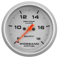 2-5/8 in. WIDEBAND AIR/FUEL RATIO ANALOG 8:1-18:1 AFR MARINE SILVER