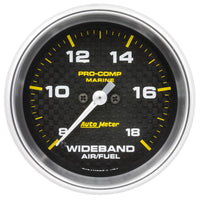 2-5/8 in. WIDEBAND AIR/FUEL RATIO ANALOG 8:1-18:1 AFR MARINE CARBON FIBER