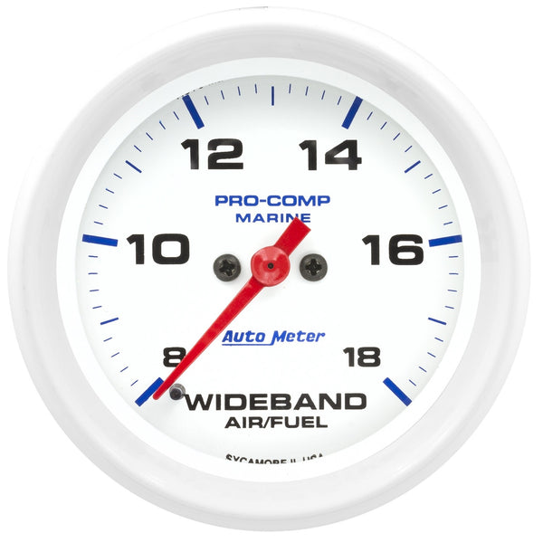 2-5/8 in. WIDEBAND AIR/FUEL RATIO ANALOG 8:1-18:1 AFR MARINE WHITE