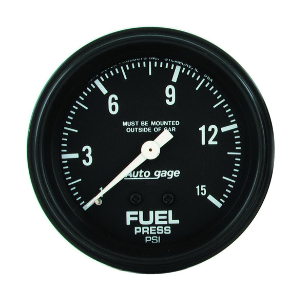 2-5/8 in. FUEL PRESSURE 0-15 PSI AUTO GAGE