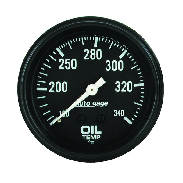 2-5/8 in. OIL TEMPERATURE 100-340 Farinihieht AUTO GAGE