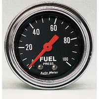 2-1/16 in. FUEL PRESSURE 0-100 PSI TRADITIONAL CHROME