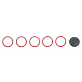 KC FLEX LED 5-Bezel Rings - ED Coated - Red