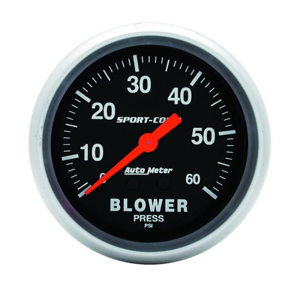 2-5/8 in. BLOWER PRESSURE 0-60 PSI SPORT-COMP