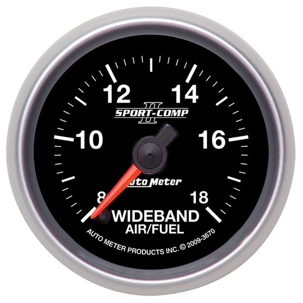 2-1/16 in. WIDEBAND AIR/FUEL RATIO ANALOG 8:1-18:1 AFR SPORT-COMP II