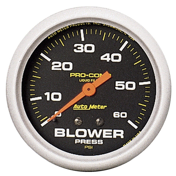 2-5/8 in. BLOWER PRESSURE 0-60 PSI W/ MEMORY LIQUID FILLED PRO-COMP