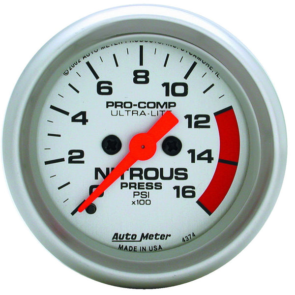 2-1/16 in. NITROUS PRESSURE 0-1600 PSI ULTRA-LITE