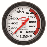 2-5/8 in. NITROUS PRESSURE 0-2000 PSI GM WHITE