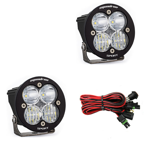 LED Light Pods Clear Lens Driving/Combo Pair Squadron R Sport Baja Designs