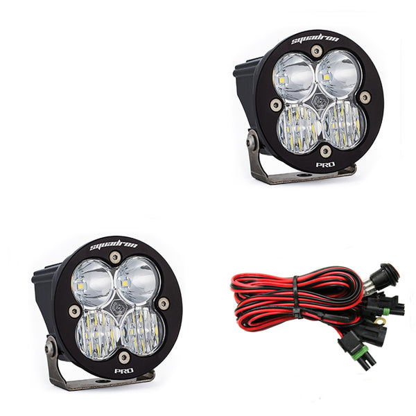 LED Light Pods Clear Lens Driving/Combo Pair Squadron R Pro Baja Designs