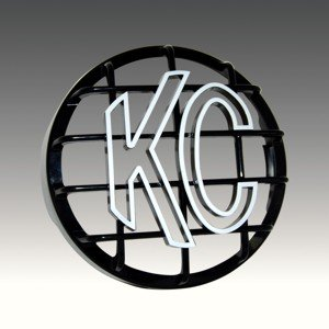 "8"" Stone Guard - ABS Plastic - Black / White KC Logo"