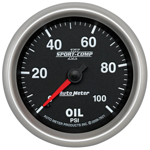 2-5/8 in. OIL PRESSURE 0-100 PSI SPORT-COMP II