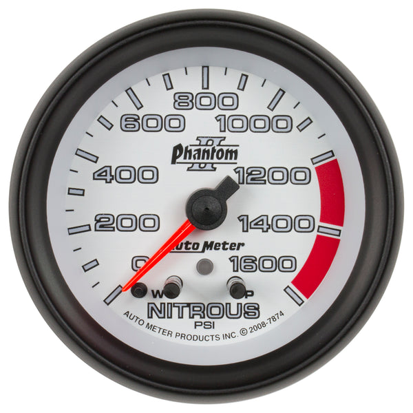 2-5/8 in. NITROUS PRESSURE 0-1600 PSI PHANTOM II