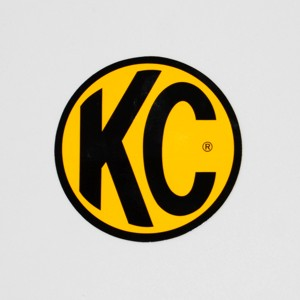 "8"" Decal - KC #9911 (Yellow with Black KC Logo)"