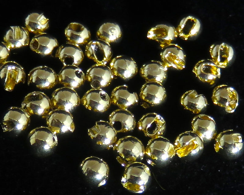 Slotted Bead Gold - 50 pcs.