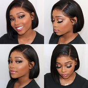 Human Lace Wigs Virgin Straight Hair Lace Front Bob Wigs