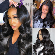 Lace Front Human Hair Wigs Body Wave 13x4 Pre Plucked Bleached Knots 360 Wigs Brazilian Remy