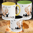 Two-Toned Ceramic 11oz Mug | Waffle-Free Storytelling Elephant in RED'ish