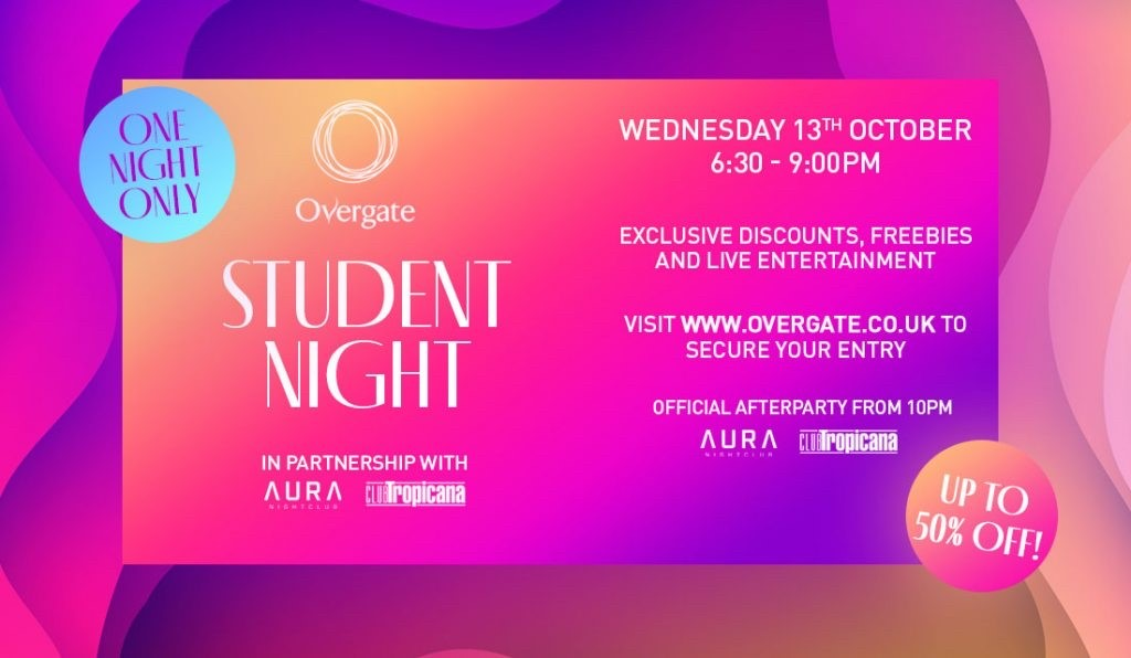 overgate dundee student lock in night 2021 pop up klash fashion