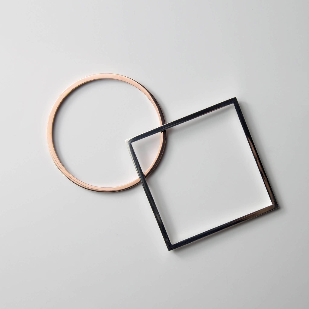 Round and Square Bangles - Minimalux