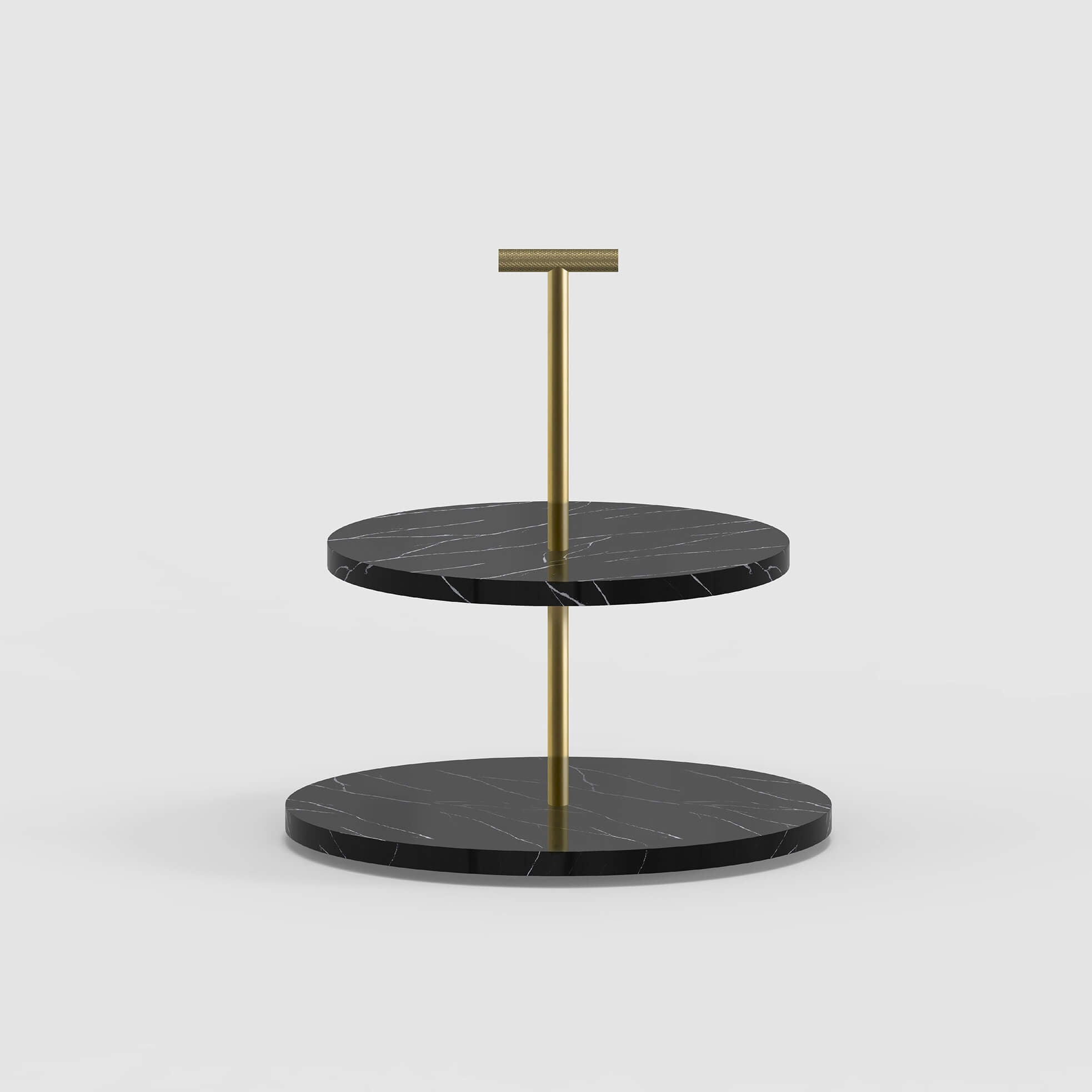 Cakestand in Brass and Marble - Minimalux