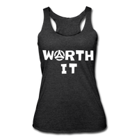 Worth It Women's Tank - heather black