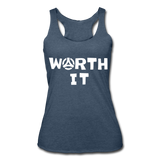 Worth It Women's Tank - heather navy