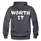 Worth It Hoodie - charcoal gray