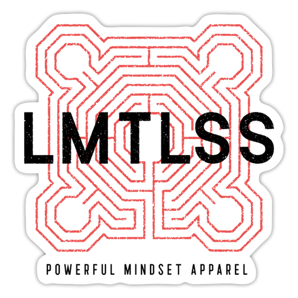 LMTLSS Sticker - white matte