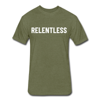 Relentless Tee - heather military green