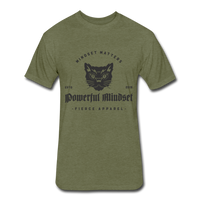 Fierce Powerful Mindset - heather military green