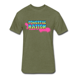 Powerful Nation Graffiti Tee - heather military green