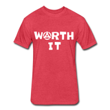 Worth It Tee - heather red